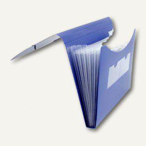 FolderSys Fächermappe A4, PP, 5 Taschen, blau, 20 Stück, 7000440 - Vorschau