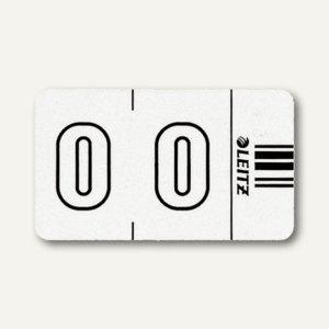 """LEITZ Ziffernsignal Orgacolor """" 0"""", auf der Rolle, weiß, 500 Stück, 6600-10-00 - Vorschau"""