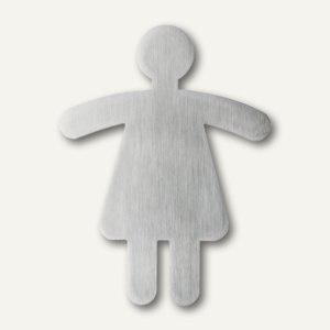 "Durable Piktogramm "" WC Damen"", ausgestanzt, Edelstahl, 120x91mm, 4950-23"