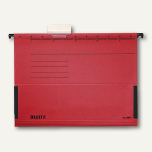 LEITZ ALPHA Hängetaschen A4, mit Fröschen, 225g/m², rot, 25 Stück, 19860025