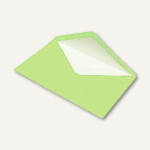 Briefumschlag DIN C5, Seidenfutter, nassklebend, maigrün gerippt, 100 Stück