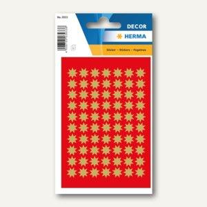 Herma Sticker DECOR Sterne, 6-zackig, Ø 10 mm, gold, 10 x 3 Blatt, 3933