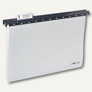 Durable Hängemappe DIN A4, PP Kunststoff, grau, 25 Stück, 2563-10