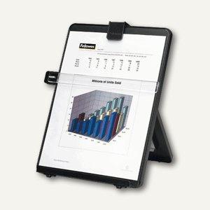 Fellowes Konzepthalter/Schreibplatte für DIN A4, mit Lineal, schwarz, 21106