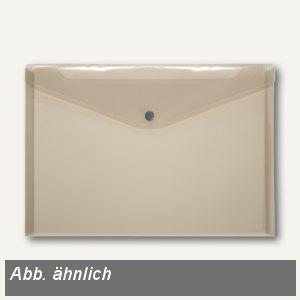 Dokumententaschen neutral DIN A5 quer, rauch, Knopfverschluss, 100 St., 40912-24 - Vorschau