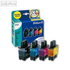 Pelikan Tintenpatronen-Multipack für Brother, schwarz, cyan, magenta, gelb, 355041