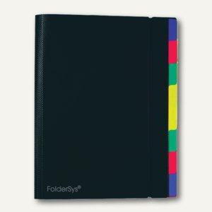 FolderSys Ordnungsmappe mit 8 Trennblättern, A4, PP, schwarz, 10 Stück, 70031-30