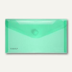 FolderSys Dokumententaschen, DIN lang, Klett, grün, 100 St., 40103-54