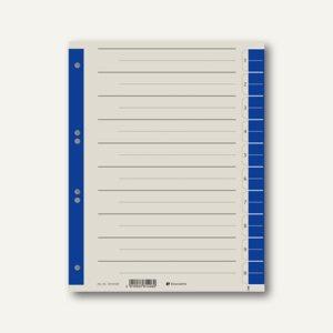 officio Trennblätter DIN A4, 10 Taben, 230g/m², blau, 100 Stück