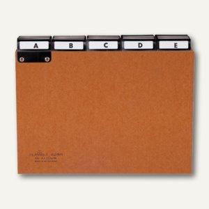 Durable Leitregister A - Z aus Pressspan, A5 quer, braun, 25-teilig, 4255-11