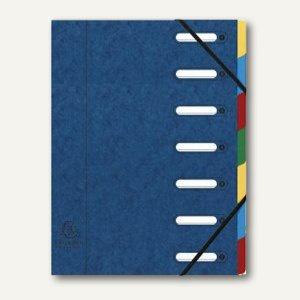 Exacompta Ordnungsmappe DIN A4, 7-teilig, blau, 55072E