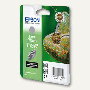 Epson Tintenpatrone T0347, hell-schwarz, C13T03474010 - Vorschau