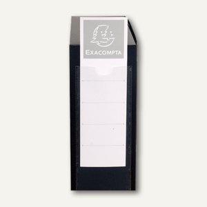 Archiv-/Dokumentenbox für DIN A4, PP, B 80 mm, Druckknopf, schwarz, 59831E