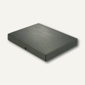 Dokumentenmappe DIN A4, Druckknopf, 40 mm bis 380 Blatt, Karton 350 g/m², schwar