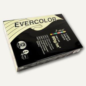Papier EVERCOLOR PASTELL, DIN A4, 80g/m², hellgelb, 500 Blatt, 40005C