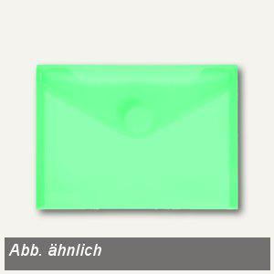 FolderSys Umschlag transparent, DIN A6 quer, PP, Klett, grün, 100 St., 40116-54