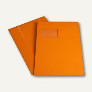 officio Versandtasche DIN C4, Fenster, haftkl., 120 g/m², orange, 250 Stück