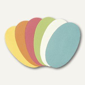 """Moderationskarten """" Oval"""", 11 x 19 cm, farbig sortiert, 250 Stück, UMZH 1119 99"""