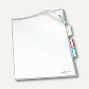 Durable Organisationshüllen DIN A4, 3fach-Teilung, transparent, 25 Stück, 2316-19