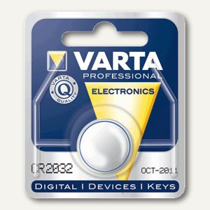 Varta Knopfzelle CR2032, 3 Volt, Lithium, 06032