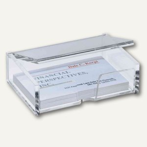 Sigel Visitenkarten Box Acryl Glasklar Mit Deckel Va112
