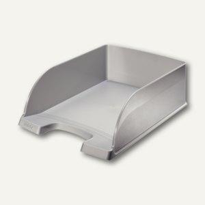 LEITZ Briefablage Plus Jumbo, DIN A4, Polystyrol, silber, 4 Stück, 5233-00-84