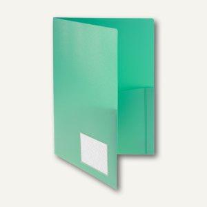 Broschüren-Mappe A4, Innentaschen, Abheftlasche, grün, 20 Stück, 10008-50