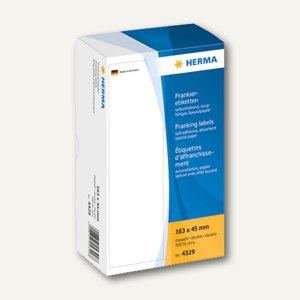 Herma Frankier-Etiketten, doppelt, 163 x 45 mm, 500 Stück, 4329