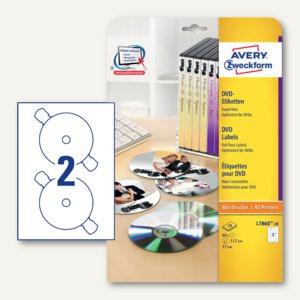 DVD-Etiketten SuperSize, für alle Drucker, 117 mm, 40 Stück, L7860-20