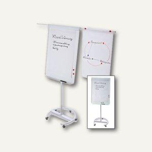 Magnetoplan Flipchart Junior Plus, mobil, 1000 x 700 mm, weiß/lichtgrau, 12269F14