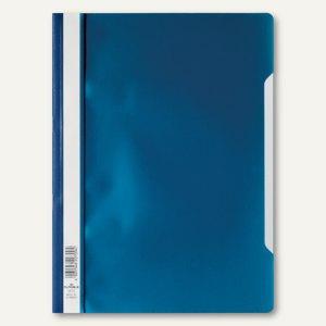 Schnellhefter DIN A4, PP, transparentes Deckblatt, dunkelblau, 50 Stück, 2573-07