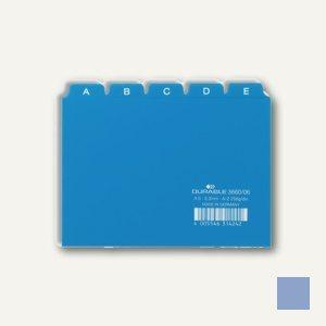 Durable Leitregister DIN A6 quer, Kunststoff, 5/5 Teilung, blau, 3660-06