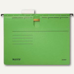 LEITZ Alpha Hängehefter für DIN A4, kaufm. Heftung, grün, 5 Stück, 19843055 - Vorschau