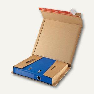 Ordner-Versandkarton, DIN A4, 320 x 290 x 35-80 mm, braun, 20 Stück, CP 50.01