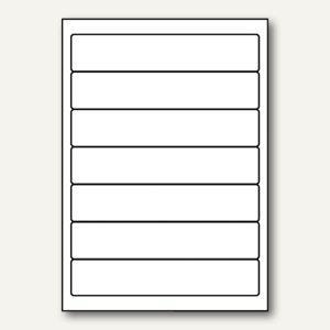 officio PC-Rückenschilder, selbstklebend, schmal/kurz, weiß, 700 Etiketten - Vorschau