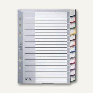 Kunststoff-Register DIN A5, 12-tlg., grau, wechselb. Einsteckschilder,