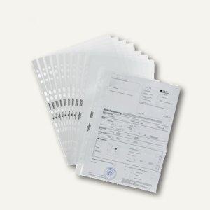 Prospekthülle DIN A4, PP, 80 my, Universallochung, glasklar, 100 Stück, 2676-19