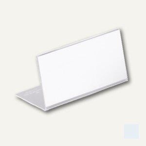 Tischnamensschild L-Form, 150 x 64 mm, Acryl transparent, 10 Stück, 8054-19