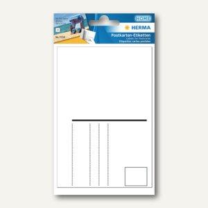 Herma Postkartenetiketten 95 x 145 mm, weiß, 10 x 10 Stück, 7758