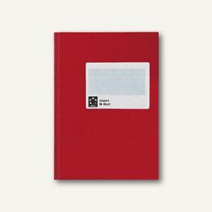 officio Kladde SB, DIN A6, kariert, 96 Blatt, rot