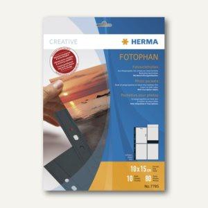 Herma Fotophan-Sichthüllen 10x15cm, 8x hoch, schwarz, 40 Hüllen, 7785