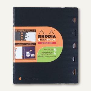 Meetingbook Exabook, Spiralblock, 260 x 305 mm, 96 Blatt, kariert, schwarz