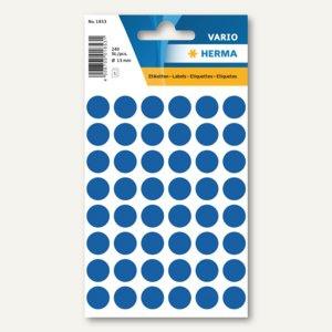 Herma Vielzweck-Etiketten, ø 13 mm, dunkelblau, 10 x 240 Stück, 1853