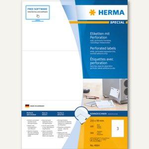 Herma Etiketten 210 x 99 mm, weiß, perforiert, matt, 300 Stück, 4664