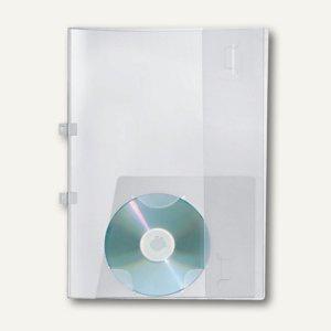 Angebotsmappe A4, PP, abheftb., CD-Tasche, bis 40 Blatt, transparent, 25 St., 44