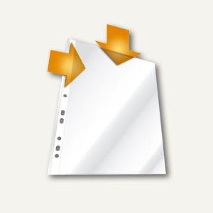 Durable Prospekthülle DIN A4, oben & links offen, genarbt, 100 St., 2663-19