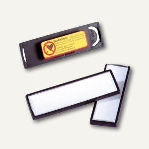 Durable Namensschild Clip-Card mit Magnet, 67 x 17 mm, schwarz, 25 Stück, 8132-01
