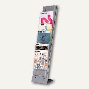 "Boden-Prospektständer "" Plio"", 115 x 25 x 36 cm, 7 Fächer, Aluminium, 2857.35"
