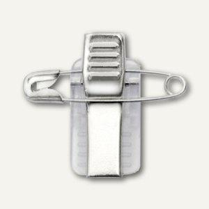 Veloflex selbstklebender Clip mit Nadel für Namensschilder, 100 Stück, 2014810