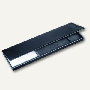 "Läufer "" La Linea"" Set mit Deckel, naturgenarbtes Rindsleder, schwarz, 39216"
